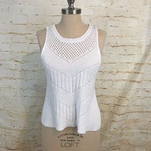 🌞 American Eagle sleeveless sweater M white